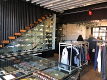 Downstairs clothing store